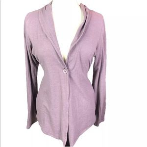 Carve purple wrap cardigan tie waist Sz Large